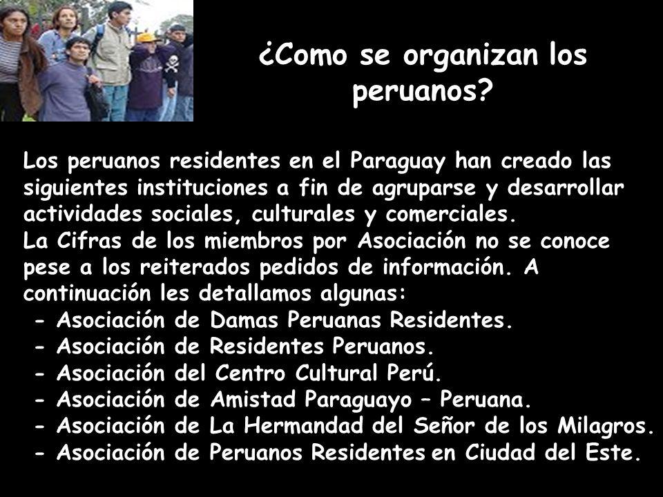 ¿Como se organizan los peruanos.