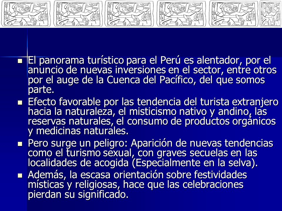 Sin embargo, poco o nada se ha hecho, de manera organizada, a favor de la espiritualidad de millones de personas que cada año vienen al Perú o que se movilizan en la capital y en el interior del país.