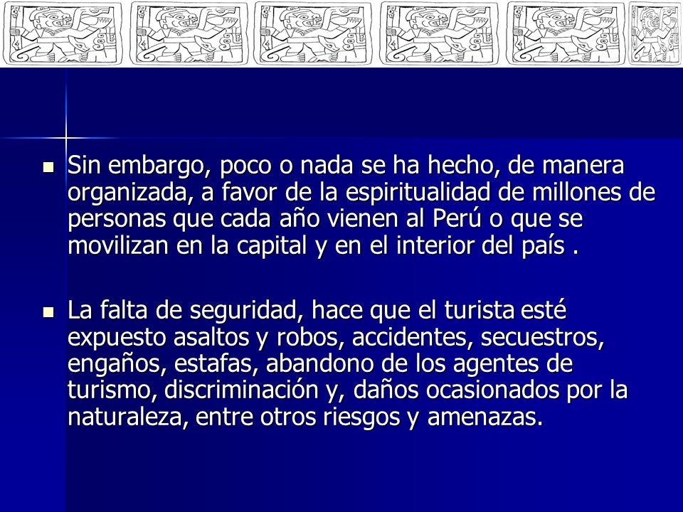 PLAN PILOTO Diseñar y ejecutar un Plan Piloto de Trabajo Pastoral en el Aeropuerto Internacional Jorge Chávez con alcance a: Diseñar y ejecutar un Plan Piloto de Trabajo Pastoral en el Aeropuerto Internacional Jorge Chávez con alcance a: Turistas Turistas PNP – Policía Nacional del Perú PNP – Policía Nacional del Perú Migraciones Migraciones Administración de LAP Administración de LAP Servicios de Taxis (Organizados y Libres) Servicios de Taxis (Organizados y Libres) Operadores Turísticos (Líneas Aéreas, Hoteles, Restaurantes) Operadores Turísticos (Líneas Aéreas, Hoteles, Restaurantes) Agentes de Seguridad de LAP Agentes de Seguridad de LAP Familiares y allegados de Turistas Familiares y allegados de Turistas