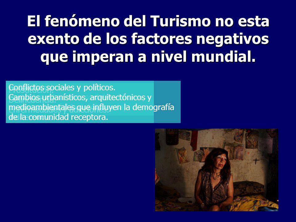 El fenómeno del Turismo no esta exento de los factores negativos que imperan a nivel mundial. Imitación. Prejuicios y barreras sociales: idioma, racis