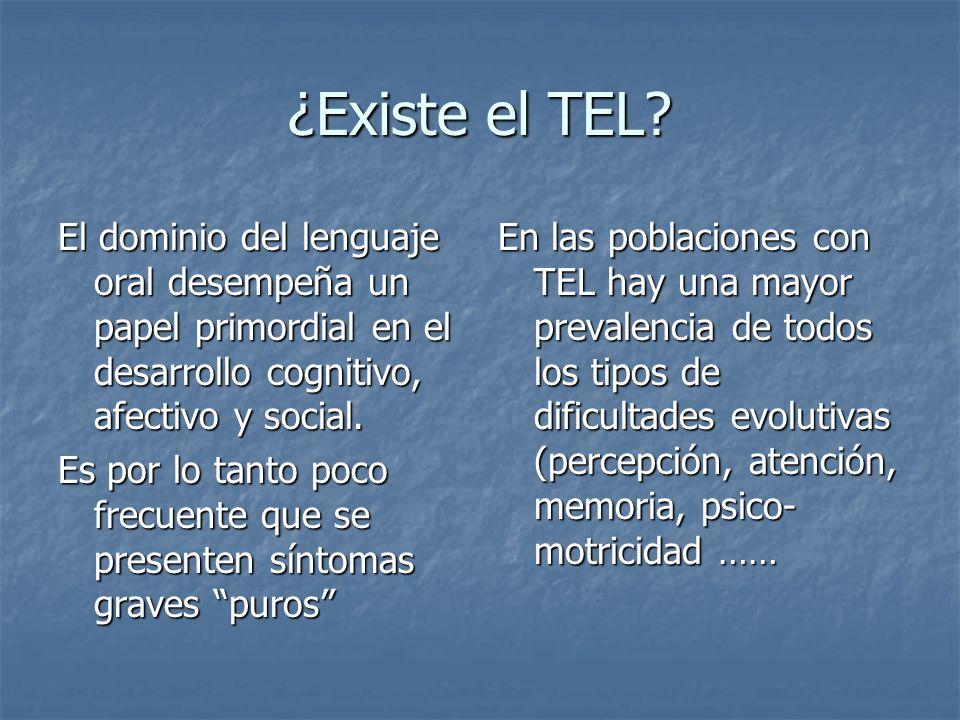 ¿Existe el TEL? El dominio del lenguaje oral desempeña un papel primordial en el desarrollo cognitivo, afectivo y social. Es por lo tanto poco frecuen