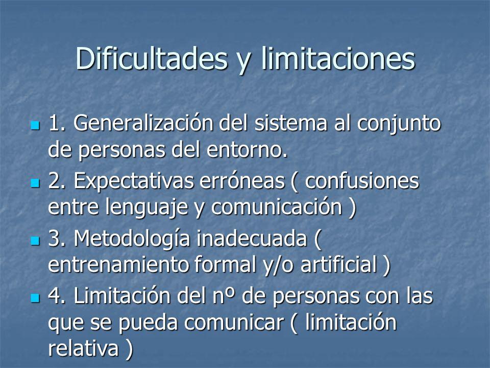 Dificultades y limitaciones 1. Generalización del sistema al conjunto de personas del entorno. 1. Generalización del sistema al conjunto de personas d