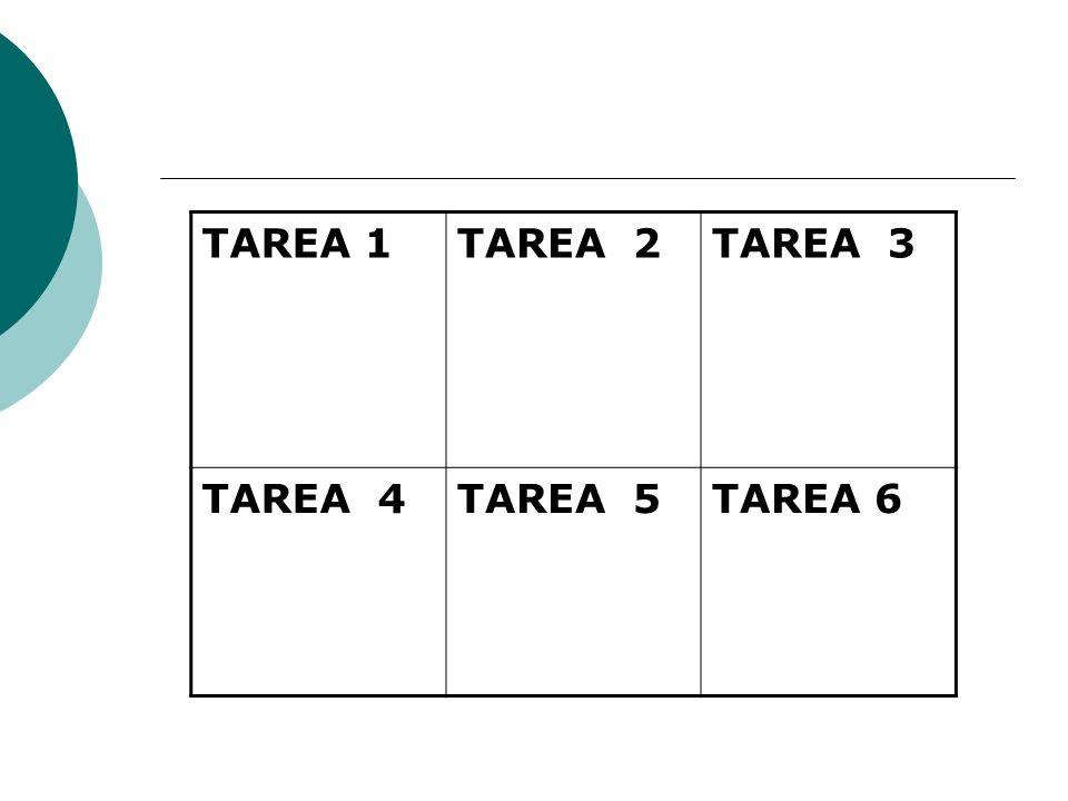 TAREA 1 TAREA 2 TAREA 3 TAREA 4 TAREA 5 TAREA 6