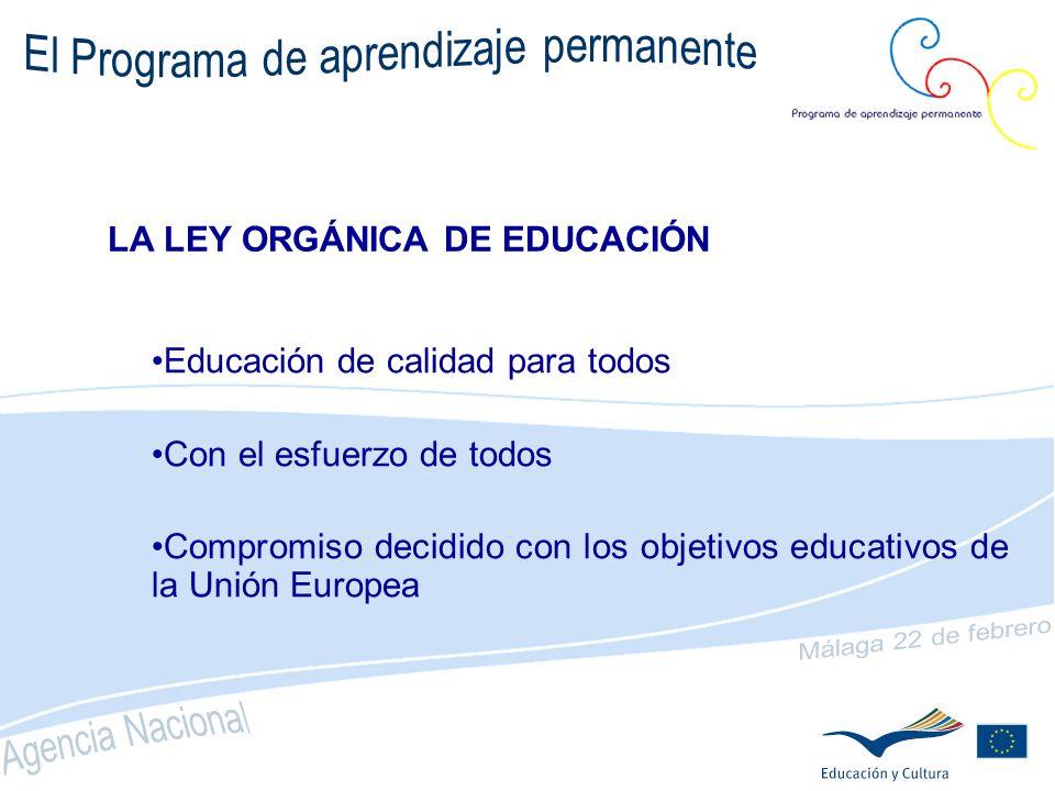 OBJETIVO GENERAL Promover el intercambio, la cooperación y la movilidad entre los sistemas europeos de educación y formación para que lleguen a convertirse en referencia mundial