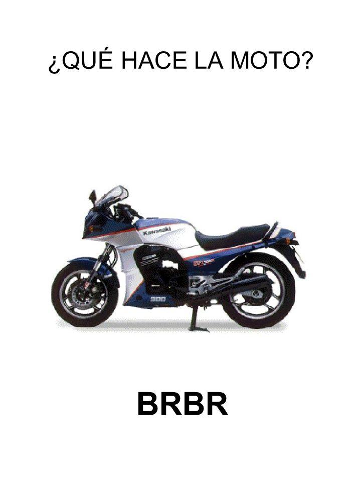 ¿QUÉ HACE LA MOTO BRBR