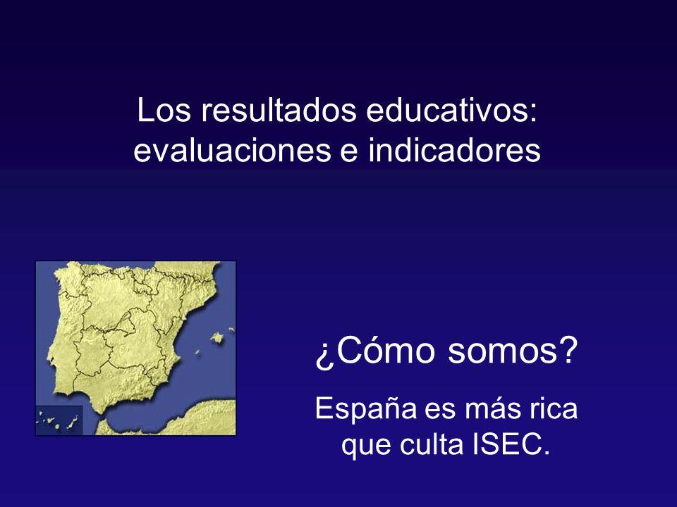 Los resultados educativos: evaluaciones e indicadores ¿Cómo somos.