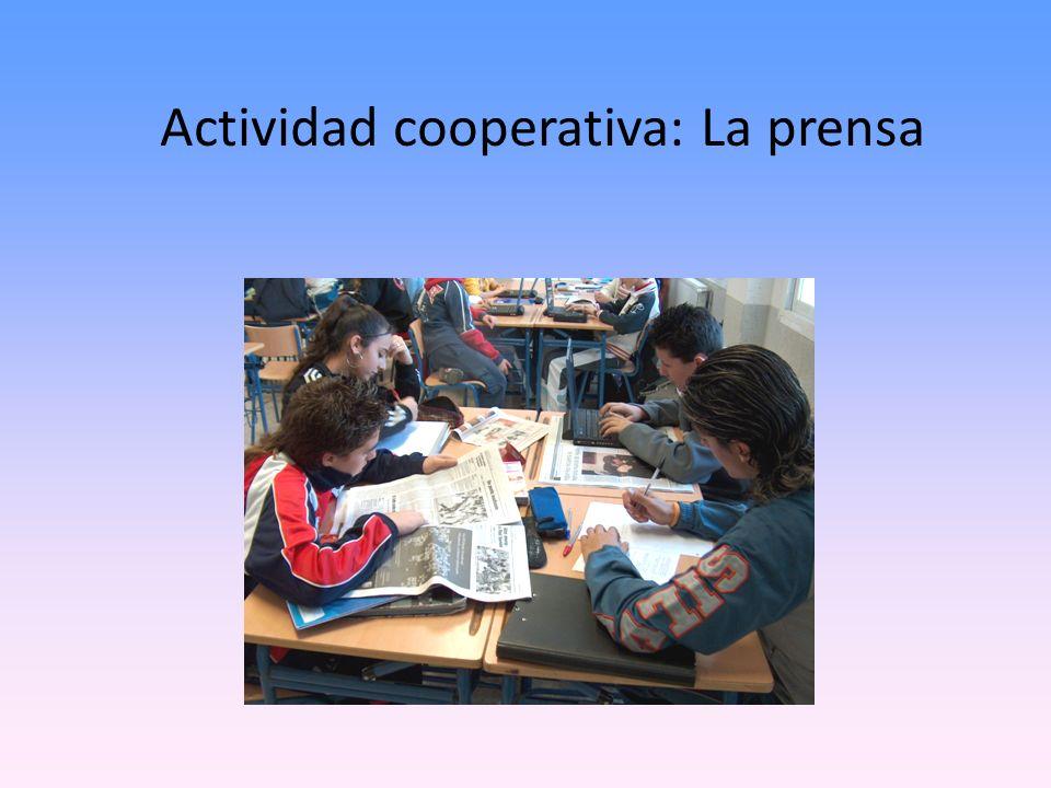 Actividad cooperativa: La prensa