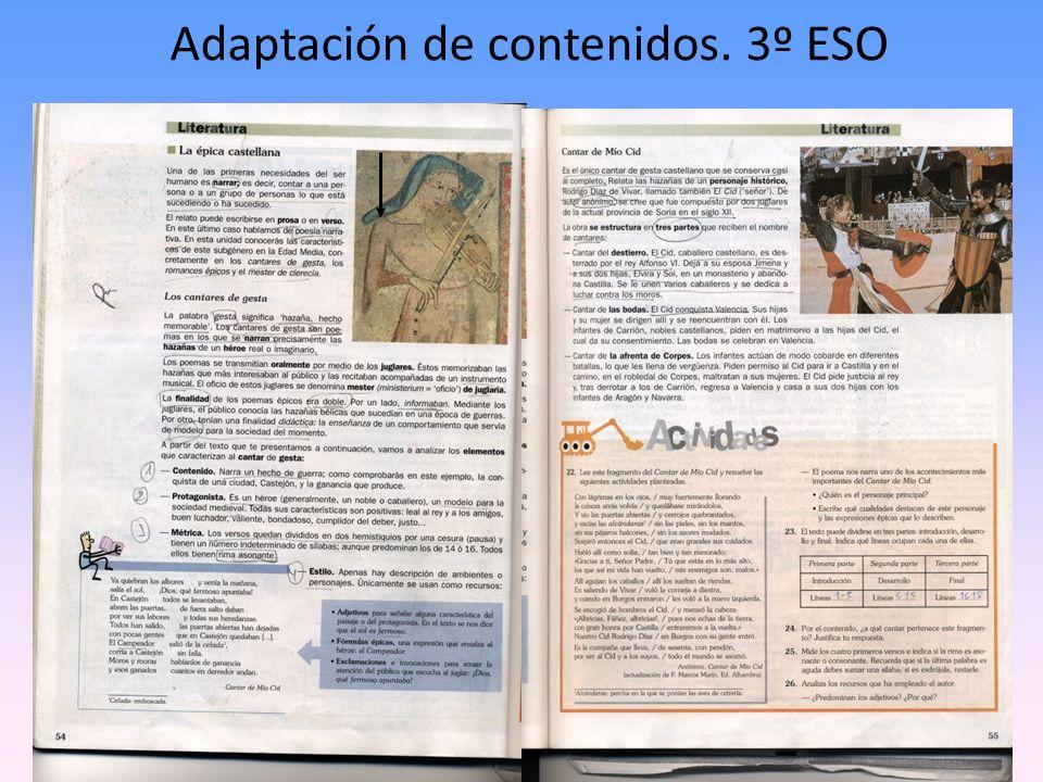 Adaptación de contenidos. 3º ESO