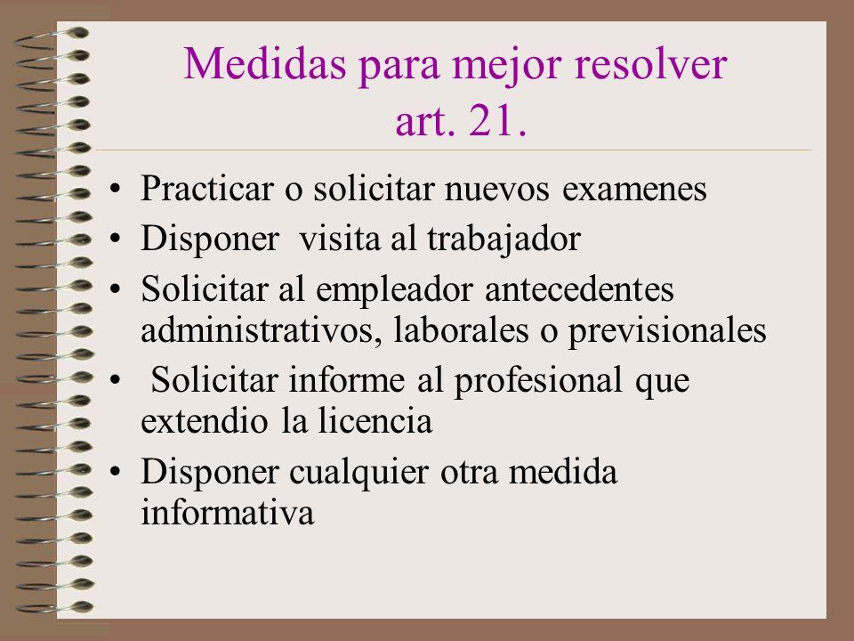 Medidas para mejor resolver art.21.