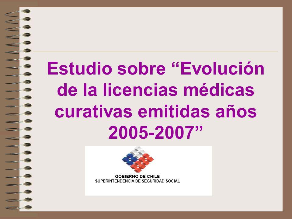 Estudio sobre Evolución de la licencias médicas curativas emitidas años 2005-2007