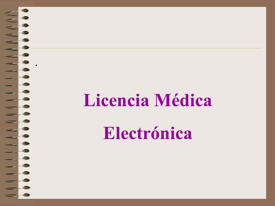 . Licencia Médica Electrónica