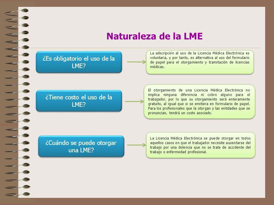 ¿Es obligatorio el uso de la LME.