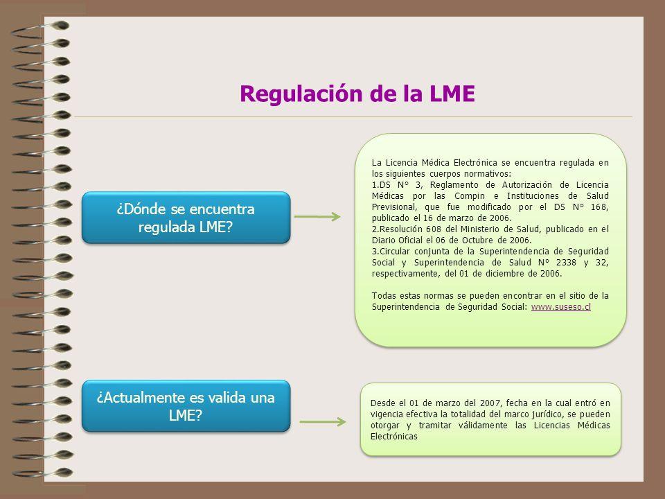 ¿Dónde se encuentra regulada LME.
