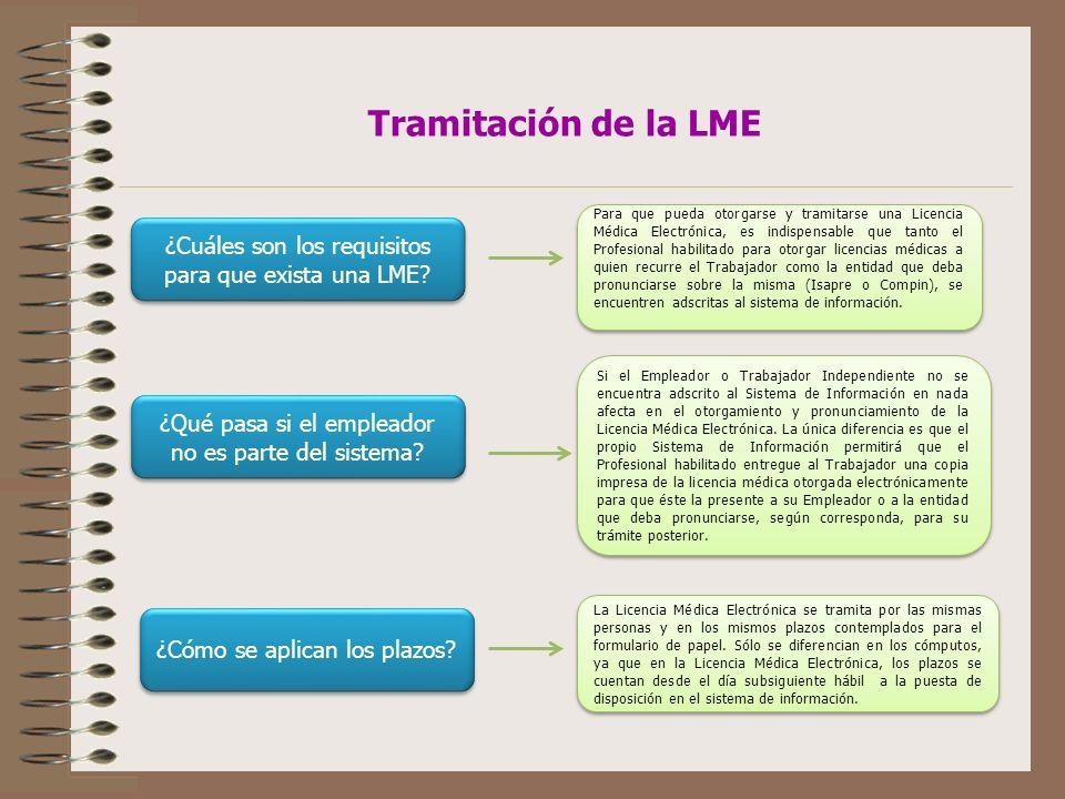 Tramitación de la LME ¿Cuáles son los requisitos para que exista una LME.