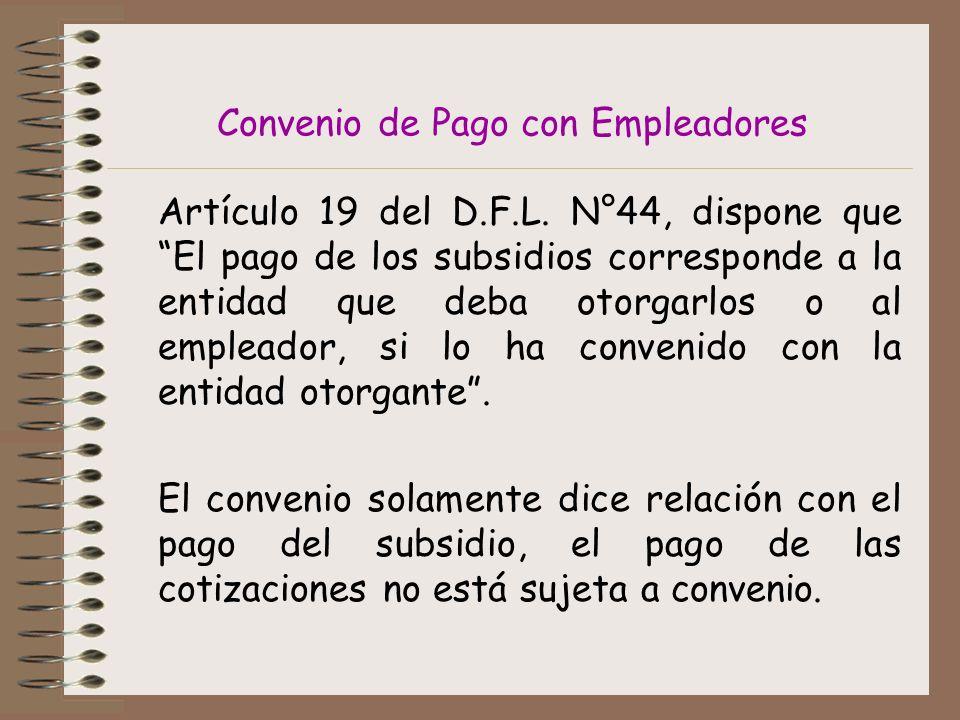 Convenio de Pago con Empleadores Artículo 19 del D.F.L.