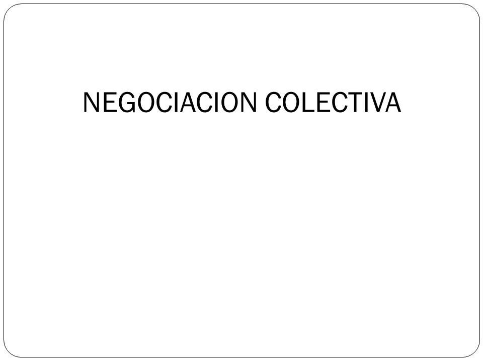 NEGOCIACION COLECTIVA