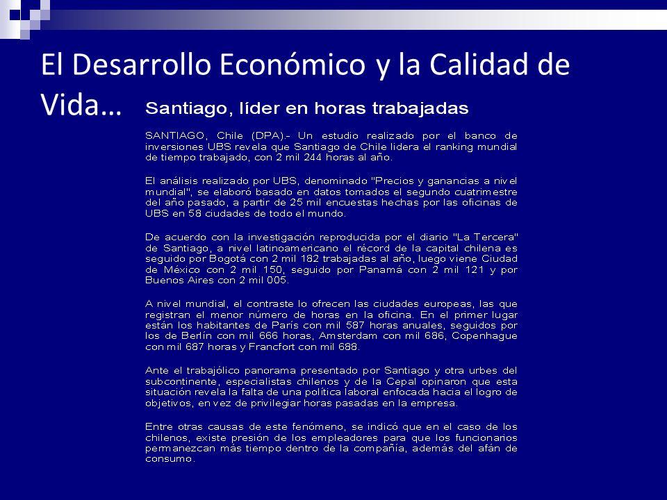 El Desarrollo Económico y la Calidad de Vida…