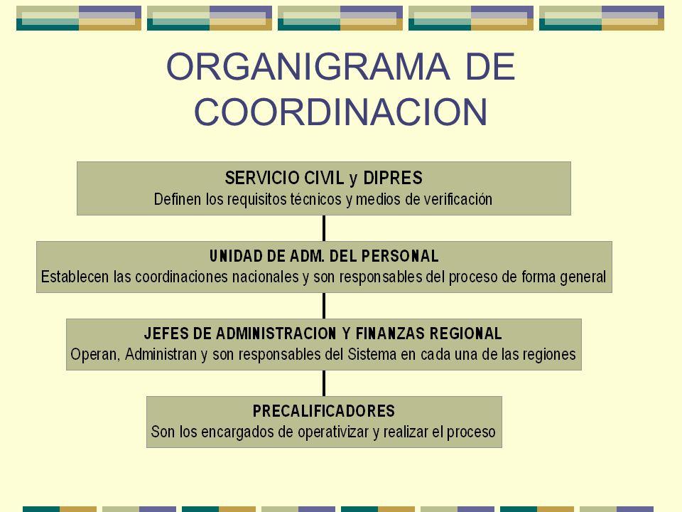 ORGANIGRAMA DE COORDINACION