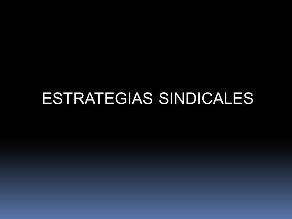 ESTRATEGIAS DE ACCIÓN SINDICAL
