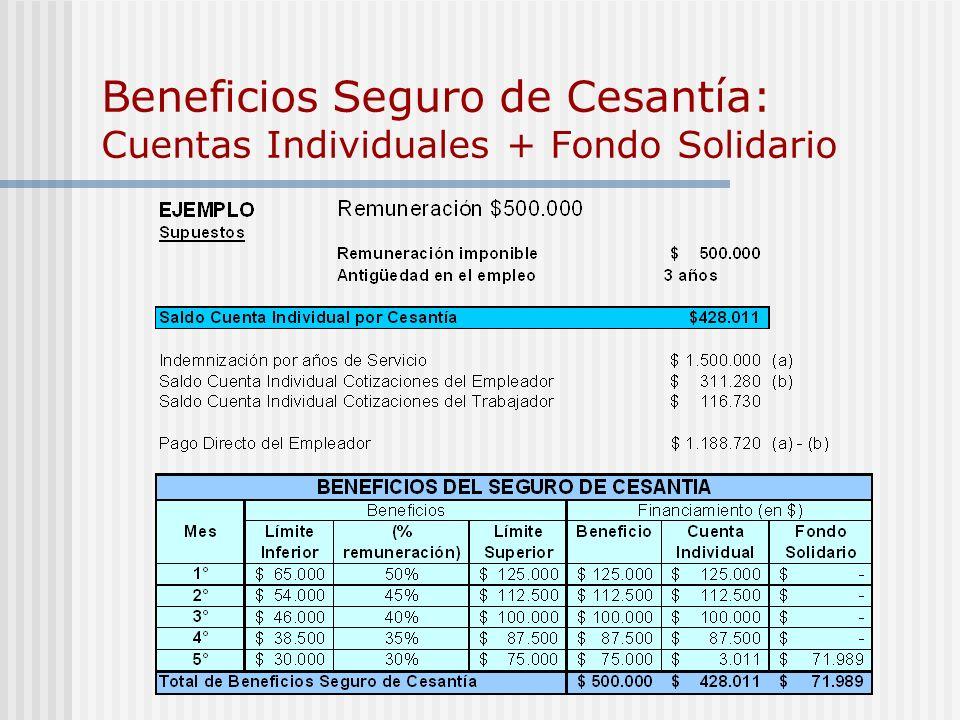 Administración Administración Privada de los Fondos Licitación que permite administrar las cuentas de cesantía por 10 años Giro Único Operador Único