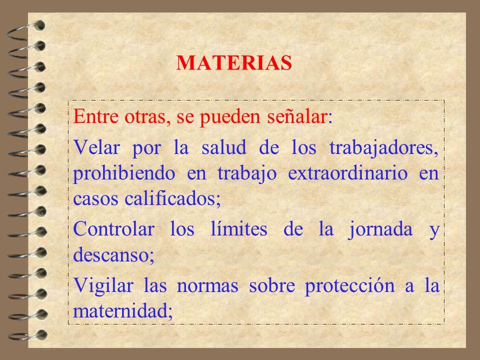 FUNCIONES (2) Supervisar el funcionamiento de los organismos sindicales y de conciliación, de acuerdo a las normas que los rigen; y, La realización de