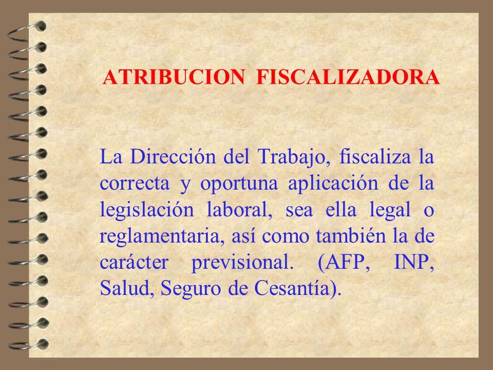 ATRIBUCION INTERPRETADORA La Dirección del Trabajo, fija de oficio o a petición de parte por medio de Dictámenes el sentido y alcance de las Leyes del