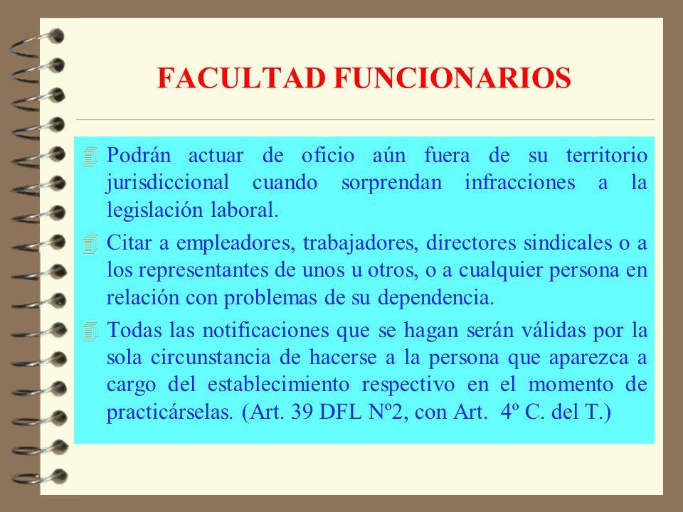 FACULTAD FUNCIONARIOS 4 Facultad para exigir libros de contabilidad y toda la documentación necesaria. 4 Poder para exigir el auxilio de la fuerza púb