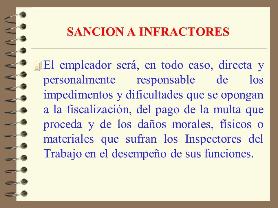 FACULTAD FUNCIONARIOS 4 Podrán actuar de oficio aún fuera de su territorio jurisdiccional cuando sorprendan infracciones a la legislación laboral. 4 C