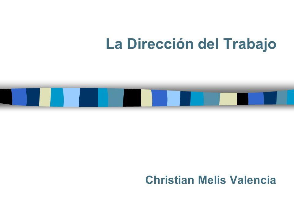 La Dirección del Trabajo Christian Melis Valencia