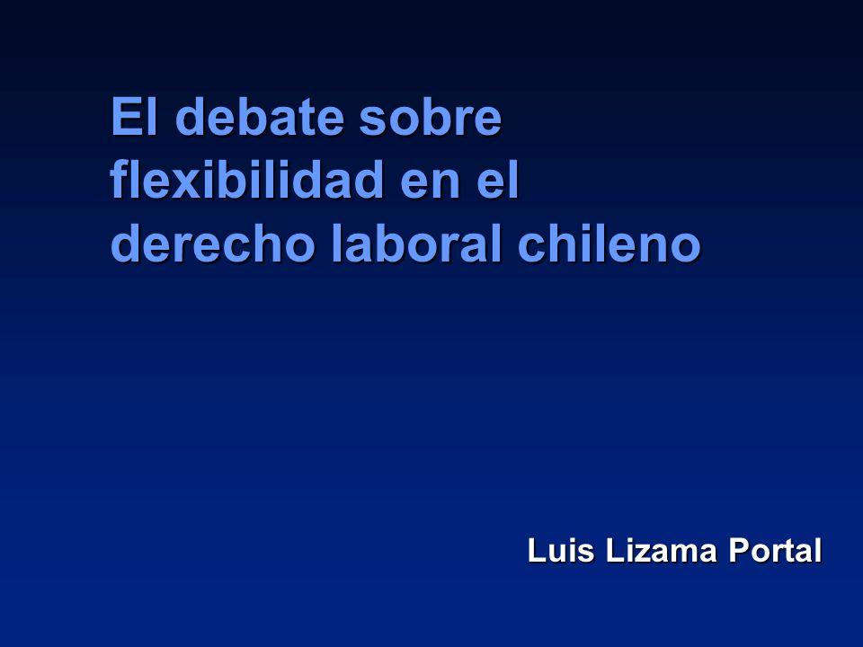Luis Lizama Portal El debate sobre flexibilidad en el derecho laboral chileno