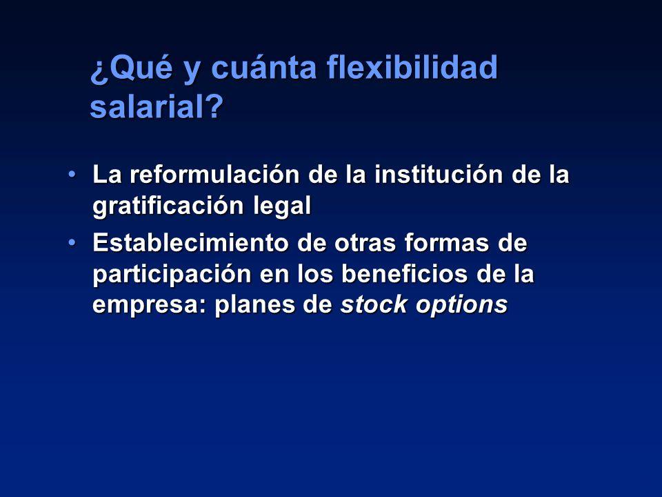 19 La reformulación de la institución de la gratificación legalLa reformulación de la institución de la gratificación legal Establecimiento de otras f