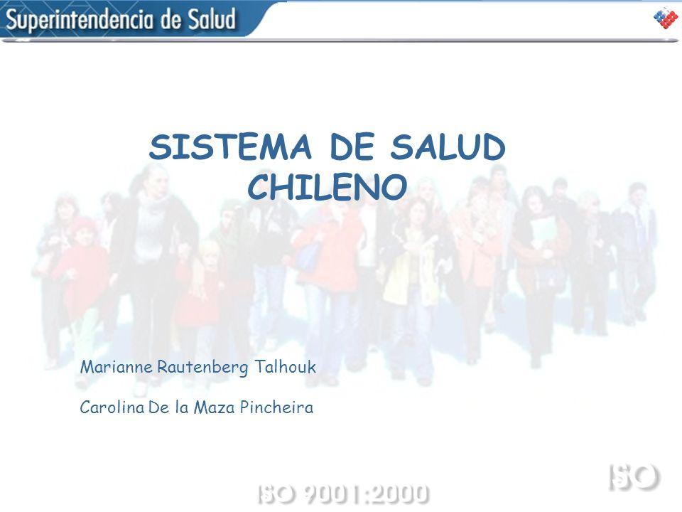 SISTEMA DE SALUD CHILENO Marianne Rautenberg Talhouk Carolina De la Maza Pincheira