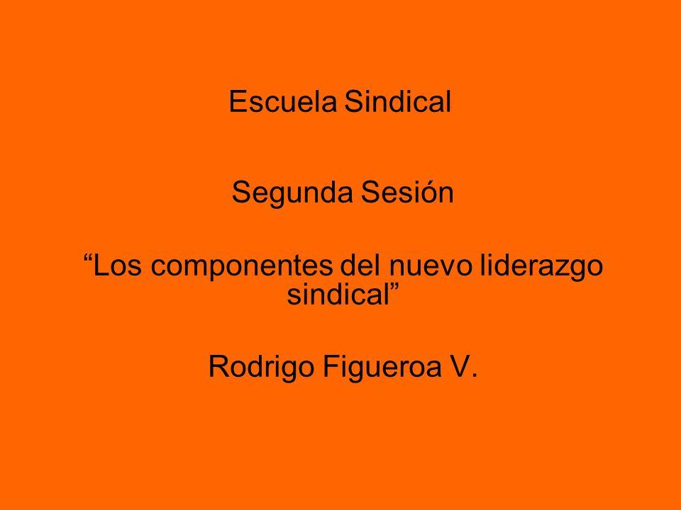 Escuela Sindical Segunda Sesión Los componentes del nuevo liderazgo sindical Rodrigo Figueroa V.