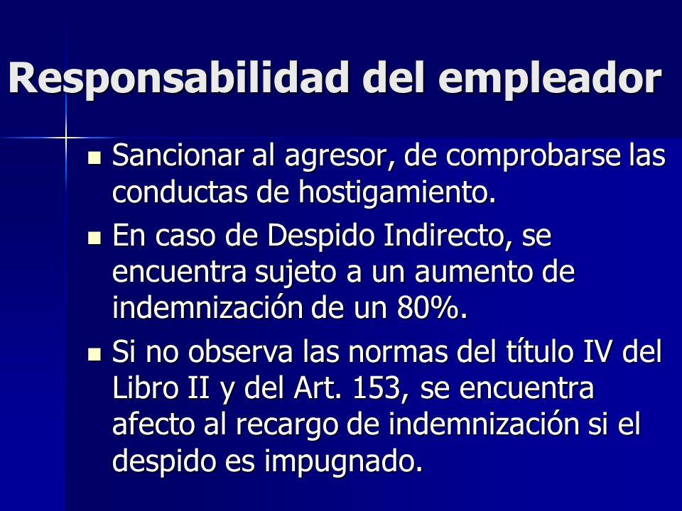 Responsabilidad del denunciante Art.171 Inc. final: Art.