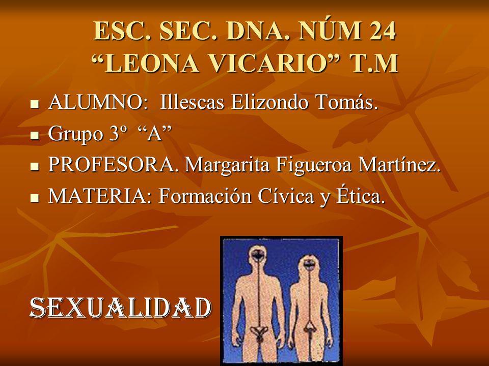 ESC. SEC. DNA. NÚM 24 LEONA VICARIO T.M ALUMNO: Illescas Elizondo Tomás.