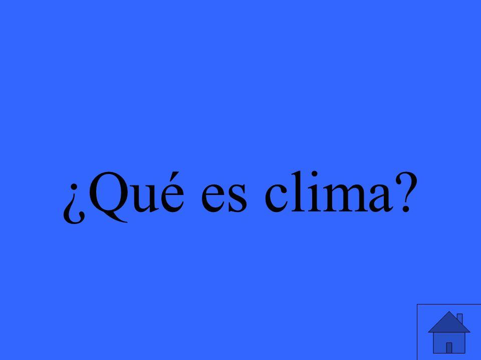 ¿Qué es clima?