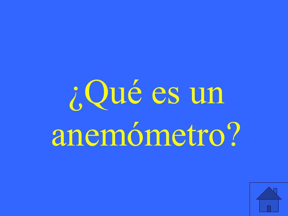 ¿Qué es un anemómetro?