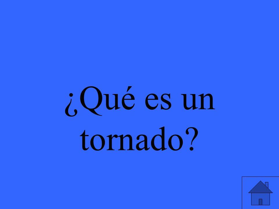 ¿Qué es un tornado?