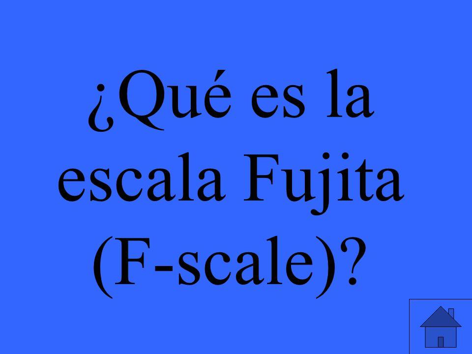 ¿Qué es la escala Fujita (F-scale)?