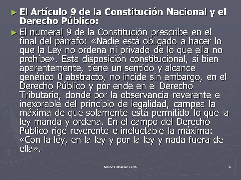 El Artículo 9 de la Constitución Nacional y el Derecho Público: El Artículo 9 de la Constitución Nacional y el Derecho Público: El numeral 9 de la Con