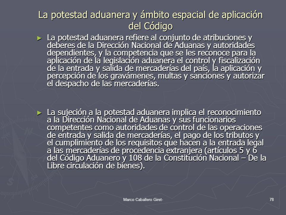 La potestad aduanera y ámbito espacial de aplicación del Código La potestad aduanera refiere al conjunto de atribuciones y deberes de la Dirección Nac