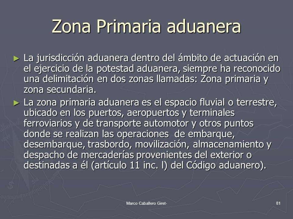 Zona Primaria aduanera La jurisdicción aduanera dentro del ámbito de actuación en el ejercicio de la potestad aduanera, siempre ha reconocido una deli