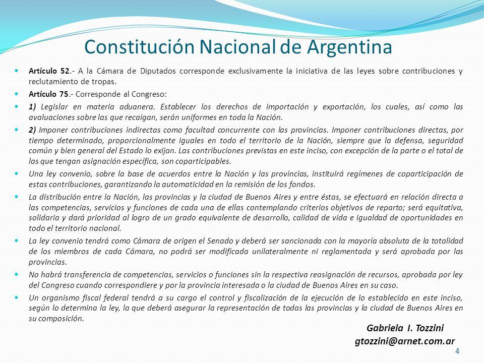 Constitución Nacional de Argentina Artículo 52.- A la Cámara de Diputados corresponde exclusivamente la iniciativa de las leyes sobre contribuciones y
