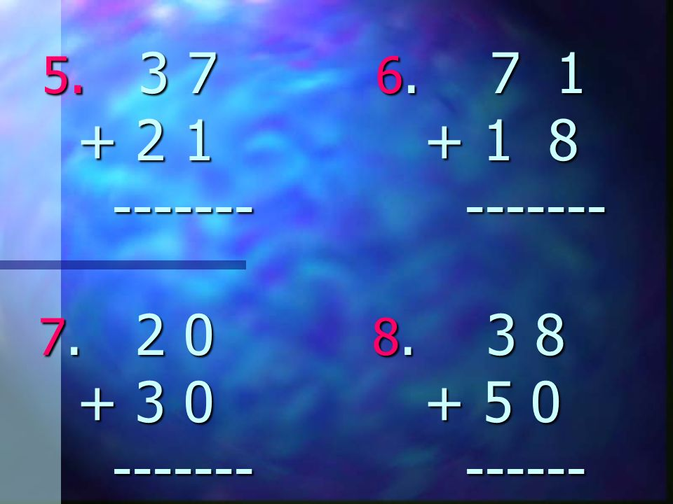 3. 3 6 4. 4 0 + 5 2 + 4 6 ----- ------ 8 8 8 6 8 8 8 6