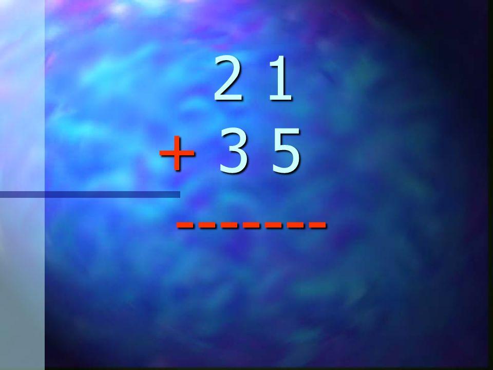 En esta lección aprenderas a sumar números de dos dígitos... Fíjate en la siguiente suma: