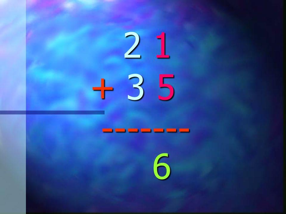 2 1 + 3 5 ------- 2 1 + 3 5 -------