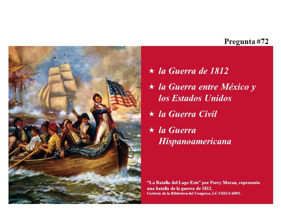 La Batalla del Lago Erie por Percy Moran, representa una batalla de la guerra de 1812.