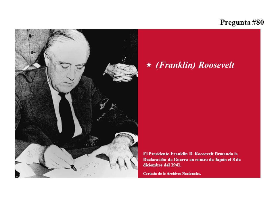 (Franklin) Roosevelt El Presidente Franklin D.