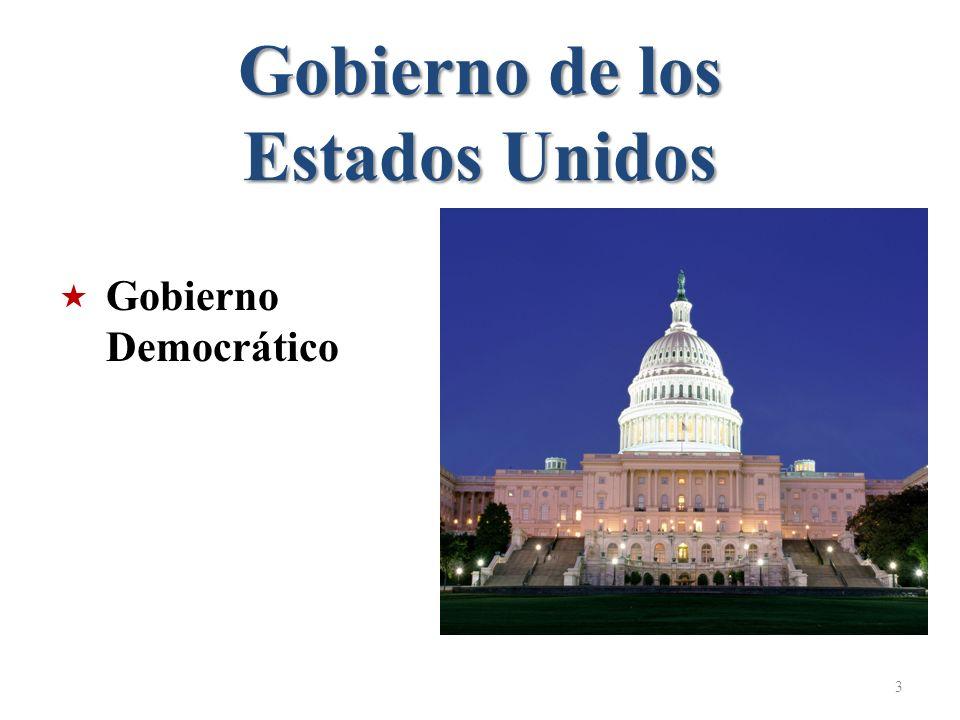 Gobierno de los Estados Unidos 3 Gobierno Democrático