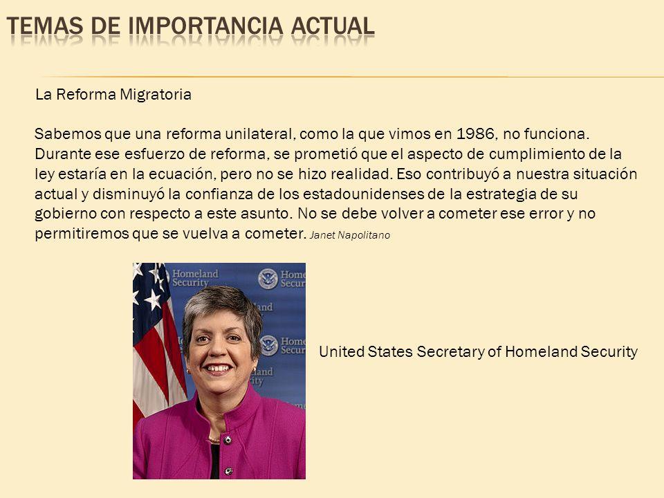 Sabemos que una reforma unilateral, como la que vimos en 1986, no funciona. Durante ese esfuerzo de reforma, se prometió que el aspecto de cumplimient